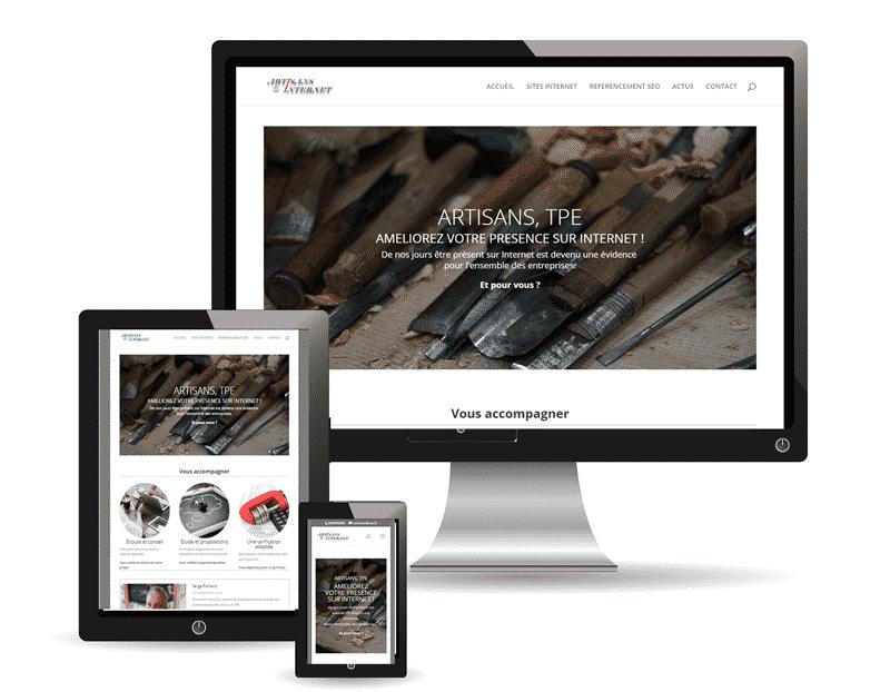 Site Art-In, conseiller web et création site