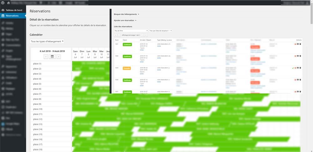 Planification et gestion de réservations en temps réel, création Art-In