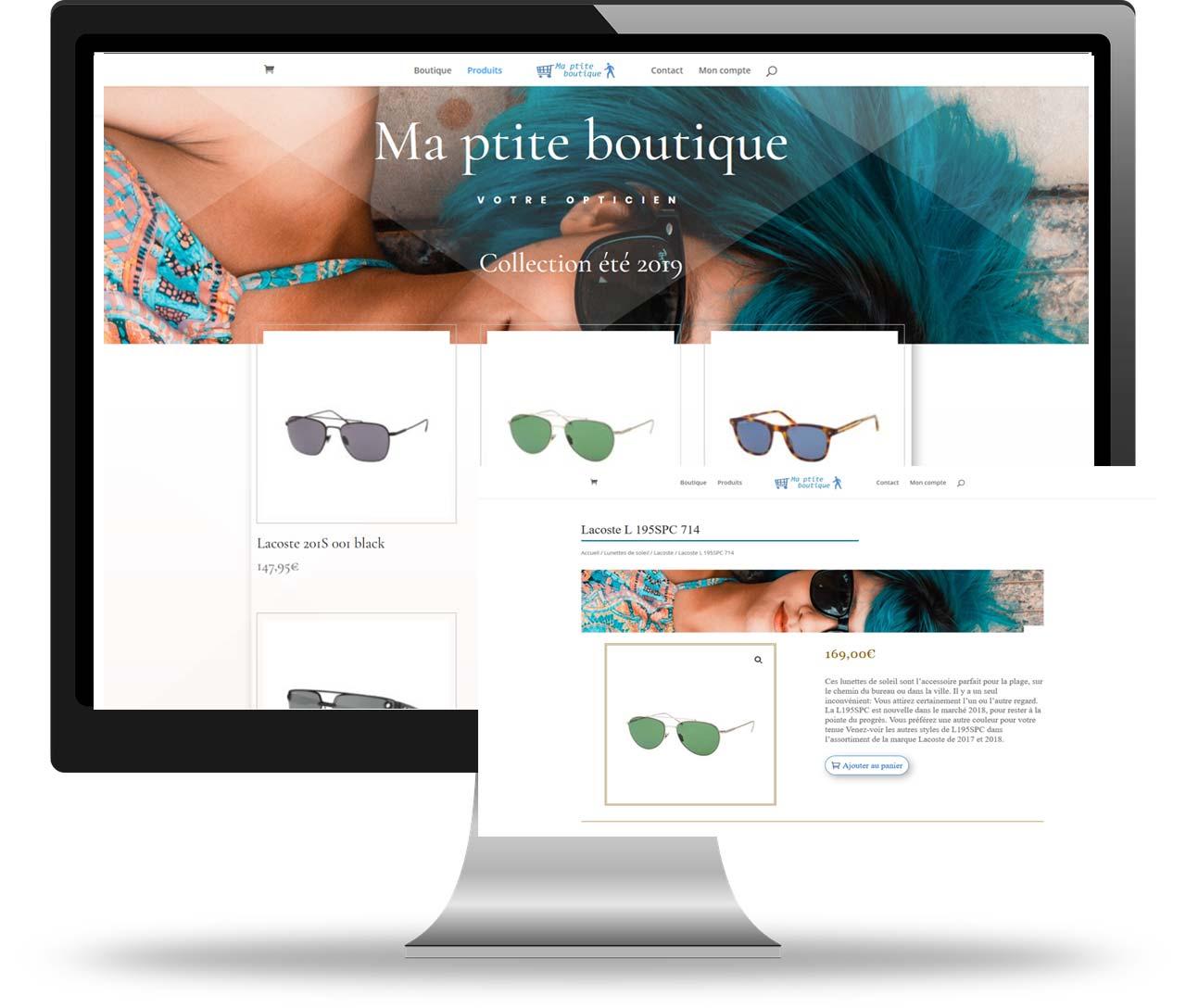boutique e-commerce pour opticien, réalisation Art-In