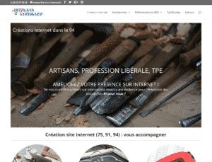 Page du site www.artisan-internet.fr avec sa feuille de style css