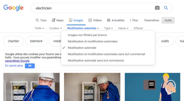 Recherche sur Google, filtrer, Art In conseils et créations web 94